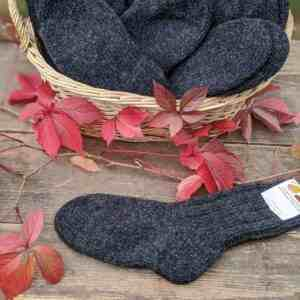 Wollsocken anthrazit