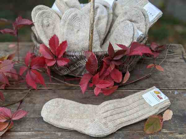 Wollsocken natur